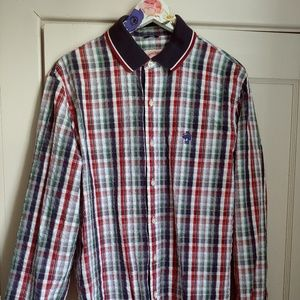 Brooks Brothers Mens Seersucker Shirt XL